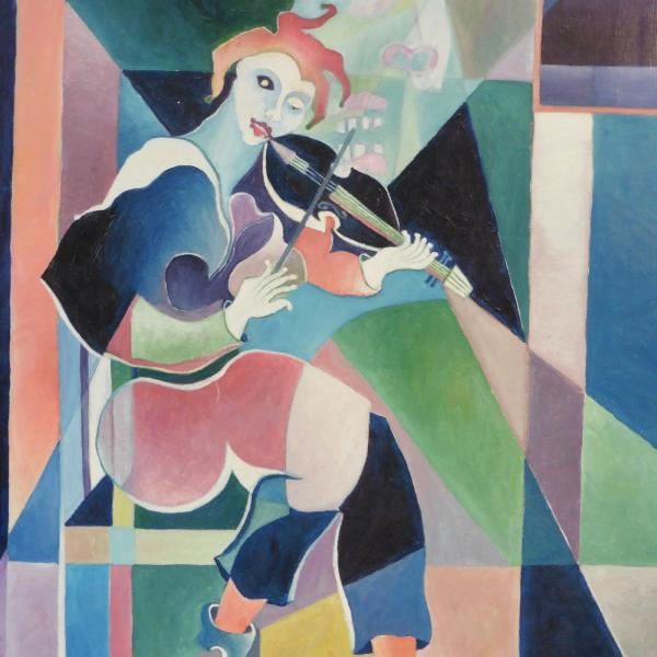 Michel Moreno Artiste peintre syntho-chromisme The dream of the violinist elovart Samantha Salloum