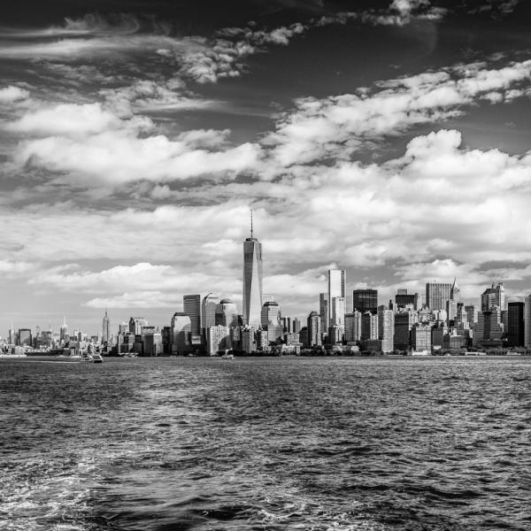 Manhattan sous les nuages Christian Aussillou Photographe New York