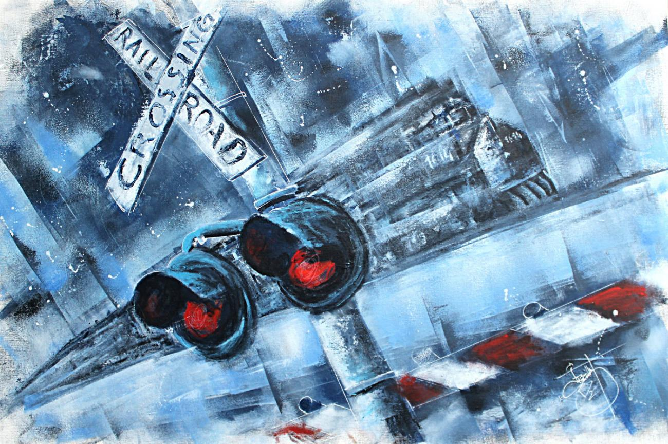 Jérôme Brillat Railroad crossing elovart bande dessinée fantastique urbain art samantha salloum